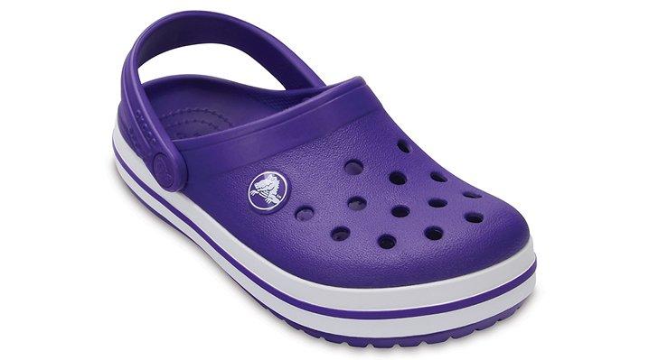 Crocs Ultraviolet / White Kids' Crocband™ Clog Shoes