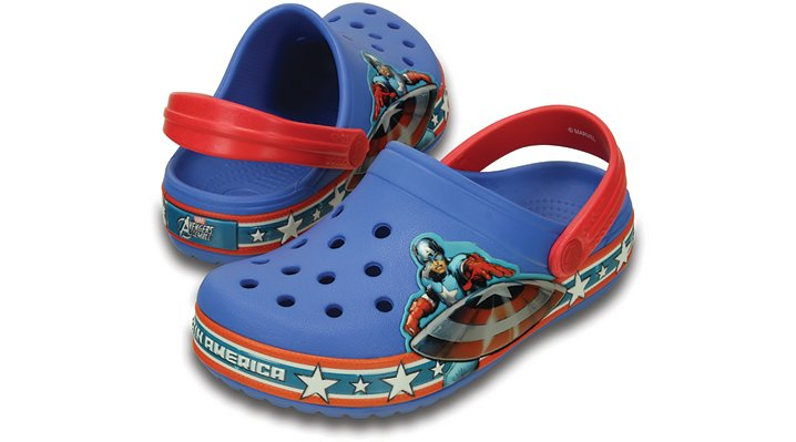Crocs Varsity Blue / Red Kids' Crocband™ Captain America™ Clog Shoes