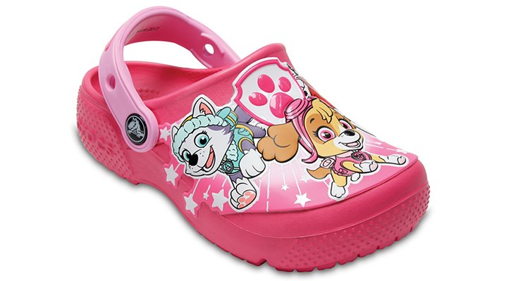 Crocs Vibrant Pink Girls' Crocs Fun Lab Paw Patrol Clogs Shoes