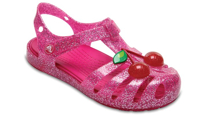 Crocs Vibrant Pink Kids' Crocs Isabella Novelty Sandals Shoes