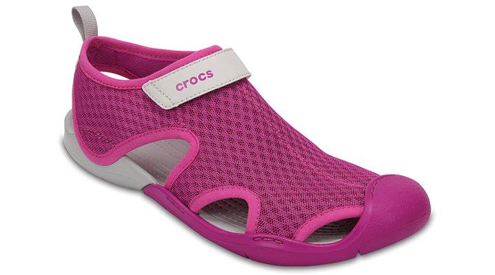 Crocs Vibrant Violet Women's Swiftwater Mesh Sandals Shoes