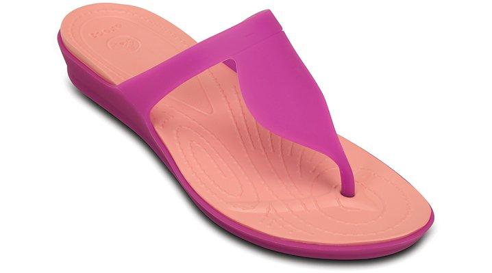 Crocs Vibrant Violet / Melon Women's Crocs Rio Flip Shoes 162665H7