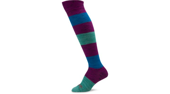 Crocs Viola Women's Marled Multi Stripe Knee High Socks Shoes $ 4.99