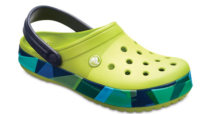 Crocs Volt Green Crocband™ Prismatic Clog Shoes