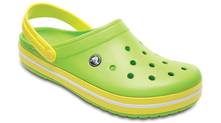 Crocs Volt Green / Lemon Crocband™ Clog Shoes
