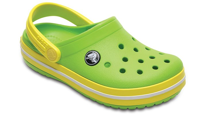 Crocs Volt Green / Lemon Kids' Crocband™ Clog Shoes