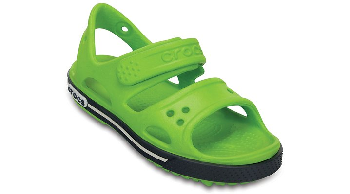 Crocs Volt Green / Navy Kids' Crocband™ Ii Sandal Shoes