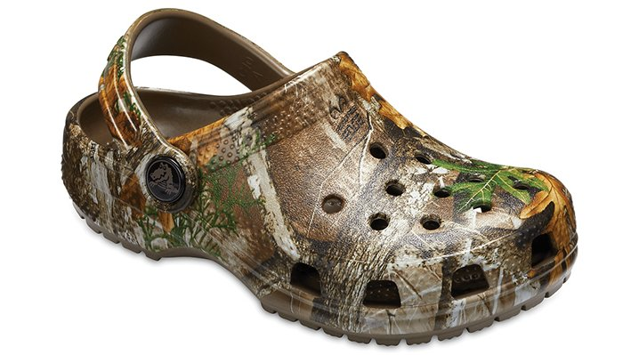 Crocs Walnut Kids' Classic Realtree® Edge Clog Shoes