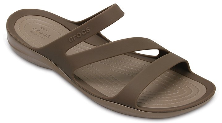 Crocs Walnut Women's Swiftwater Sandal Shoes