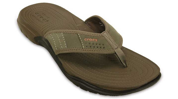 Crocs Walnut / Espresso Men'S Swiftwater Flip Shoes