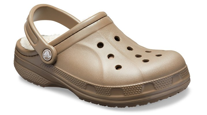 Crocs Walnut / Oatmeal Ralen Fuzz Lined Clog Shoes
