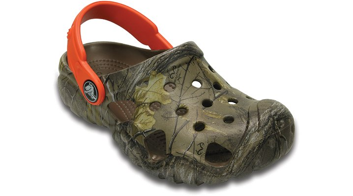 Crocs Walnut / Tangerine Kids' Swiftwater Realtree Xtra Clog Shoes