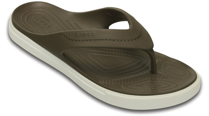 Crocs Walnut / White Citilane Flip Shoes