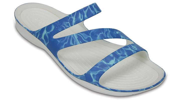 Crocs Water / White Women's Swiftwater Graphic Sandal Shoes