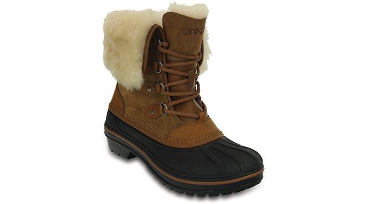 Crocs Wheat Women's Allcast Ii Luxe Shearling Boot Shoes