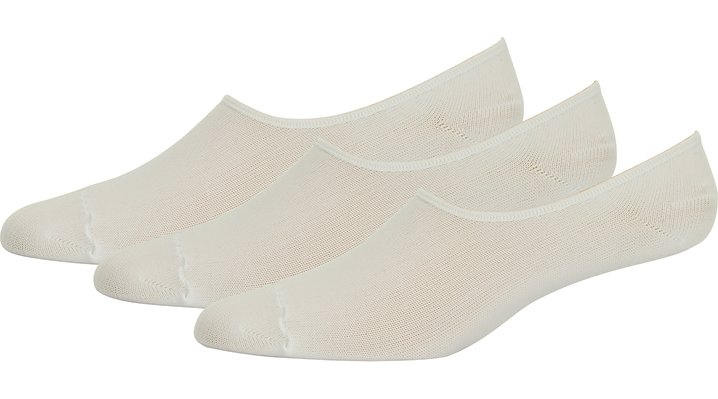 Crocs White Adults' Concealer Socks 3-Pack Shoes