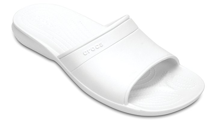 Crocs White Classic Slide Shoes