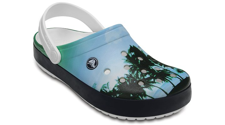 Crocs White Crocband™ Tropics Clog Shoes