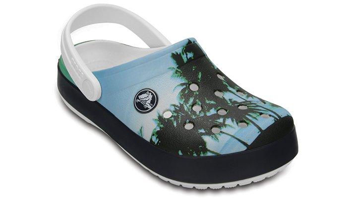 Crocs White Kids' Crocband™ Graphic Clogs Shoes