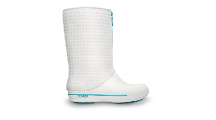 Crocs White / Aqua Women's Crocband Ii.5 Winter High Boot Women's Winter Boots