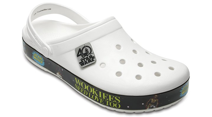 Crocs White / Black Crocband™ Star Wars™ 40Th Anniversary Clogs Shoes