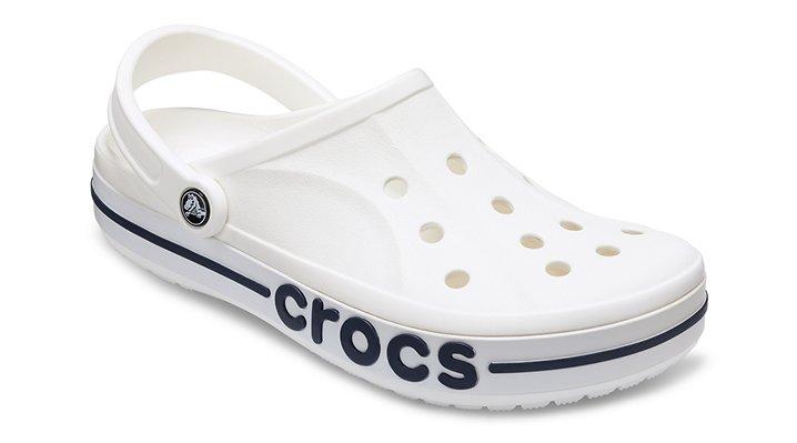 Crocs White / Navy Bayaband Clogs Shoes
