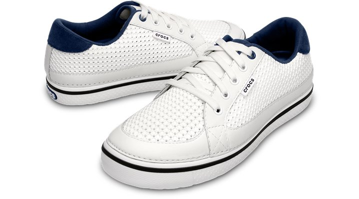 a60f6e766b72 Crocs White   Navy Men s Drayden Golf Shoe Comfortable Men s Golf Shoes