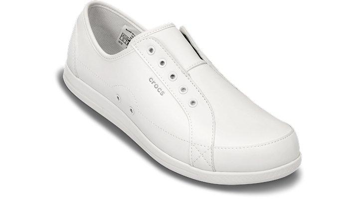 Crocs Pfd White / White Women'S Alaine Nurse Sneaker Shoes