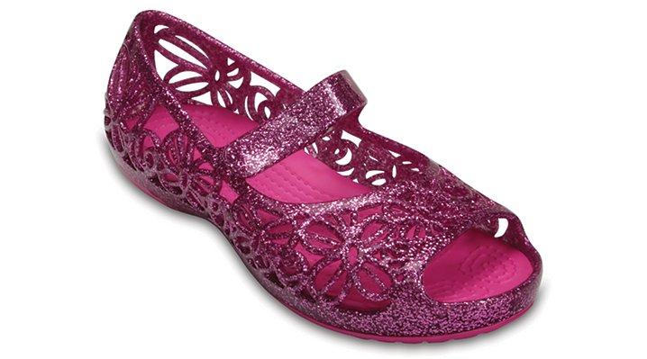 Crocs Wild Orchid Crocs Isabella Glitter Flat (Children'S) Shoes