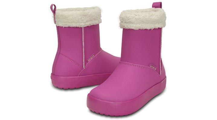 クロックス 公式オンラインショップ【クロックス公式】【送料無料】【最短翌日お届け】 クロックス カラーライト ブーツ GS - Crocs Colorlite Boot Gs 24cm パープル ブーツ