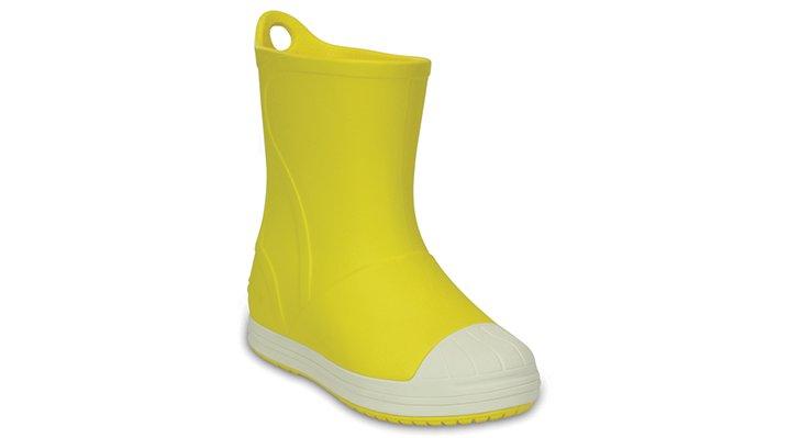 Crocs Yellow / Oyster Kids' Crocs Bump It Rain Boot Shoes