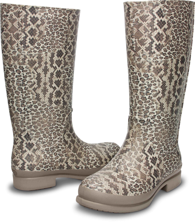 <クロックス公式> ウェリー レオパード プリント ブーツ ウィメン - Wellie Leopard Print Boot W (送料無料)画像