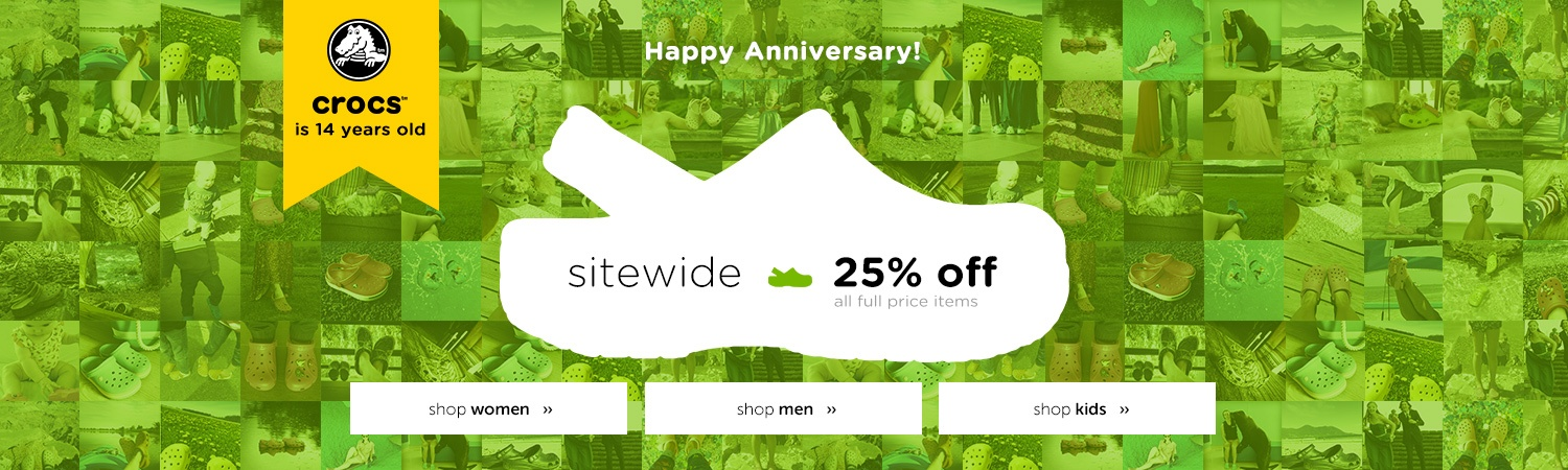 Save 25% off sitewide + free shipping on all orders over $50 at Crocs Australia.