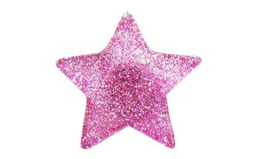 Star Pink And Black Pink Glitter Star Jibbitz