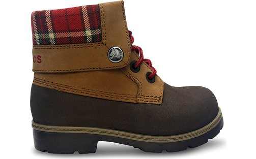 Kids' Crocs Cobbler Plaid Lined Boot