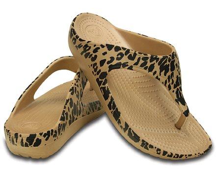 tong motifs de l opards sloane de crocs pour femme tongs pour femme site officiel de crocs. Black Bedroom Furniture Sets. Home Design Ideas
