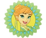 Anna Frozen Fever Badge