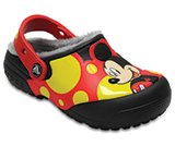 Kids' Crocs Fun Lab Fuzz Lined Mickey™ Clog