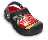 A product thumbnail of  Kids&rsquo; Creative Crocs Cars&reg; Glow-in-the-Dark Lined Custom Clog