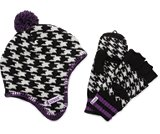 A product thumbnail of  Kids' Houndstooth Hat & Mitten Set