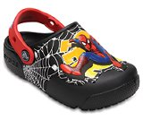 crocs fun lab lights Spiderman kids