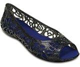 Chaussures à talons plats scintillantes Isabella de Crocs (junior)