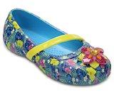 Chaussures à talons plats à motifs Lina de Crocs pour enfants
