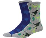 Boys' Active Crew Socks 2-pack