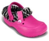 Kids' Blitzen II Animal Print Fuzz Lined Clog