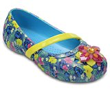 crocs lina graphic flat kids