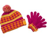 Una miniatura del prodotto  Girls' Houndstooth Hat &amp; Mitten Set