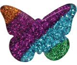 A product thumbnail of  Glitter Striped Butterfly