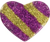 A product thumbnail of  Glitter Striped Heart Yellow/Pink