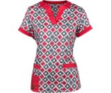 A product thumbnail of  Crocs&trade; Scrubs Vickie 3-pocket Print Top